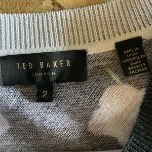 Ted Baker London Sweaters - Ted Baker Mirrored Black Floral Sweater. Size: 2